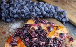 Schiacciata con l'uva, tipicità di Firenze. Foto e food styling Liudmila Musatova