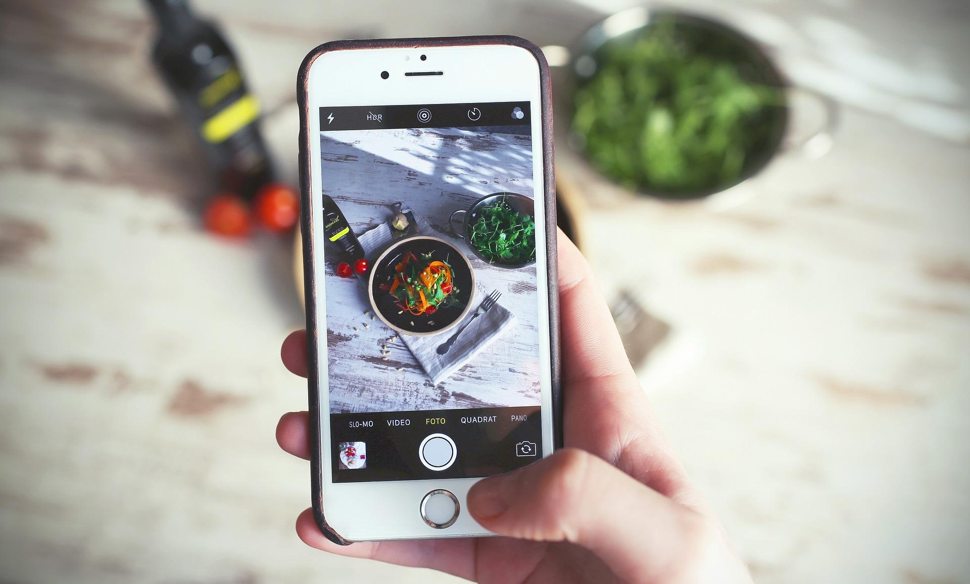 cellulare food social instagram