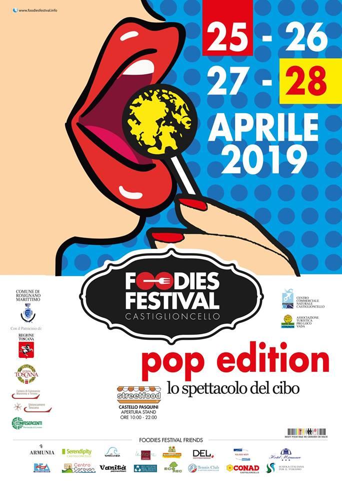 Locandina Foodies Festival Pop Edition