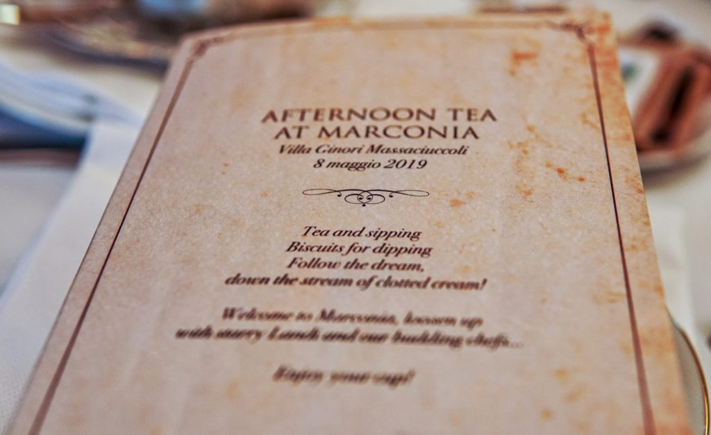 Afternoon tea all'istituto Marconi