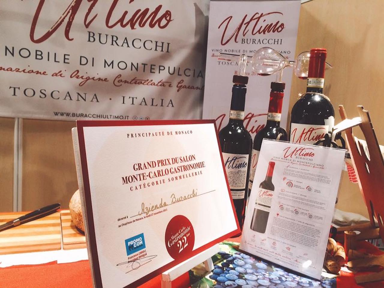 Il Premio Sommellerie, conquistato nell'edizione 2017 di Monte Carlo Gastronomie