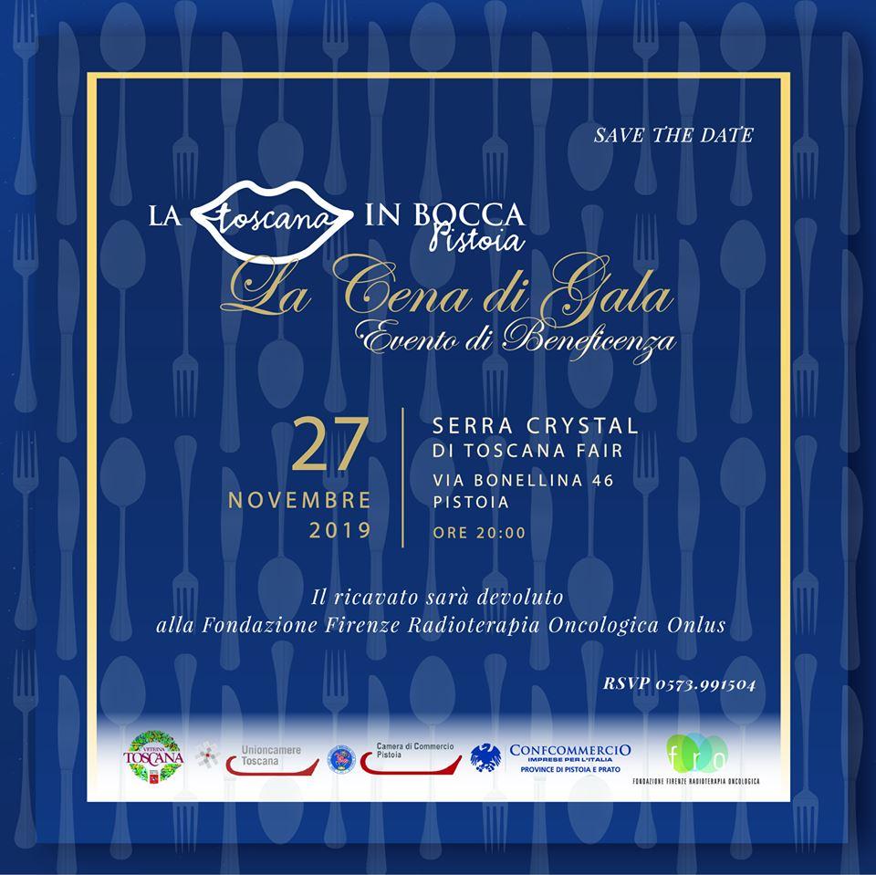 Cena di Gala 2019, La Toscana In Bocca a Pistoia