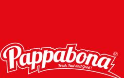 logo PAPPABONA sfondo rosso