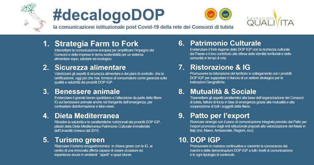 Fondazione Qualivita promuove il #decalogoDOP per la comunicazione post-covid